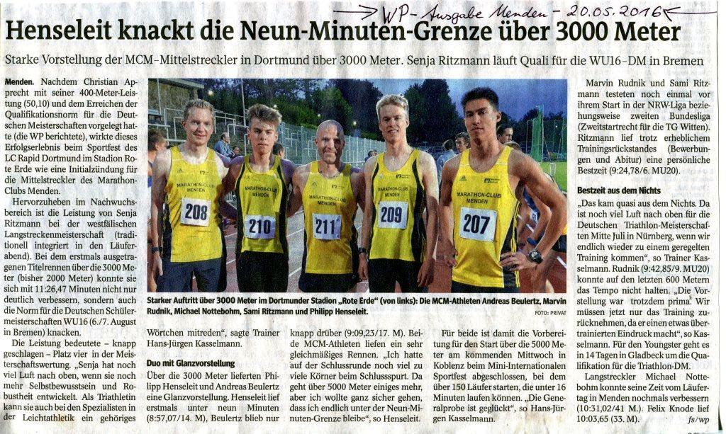 160520 Läuferabend Rapid Dortmund
