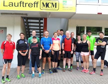 Wie man auf dem Foto sieht, hat der erste, noch interne Lauftreff, allen Beteiligten Spaß gemacht!
