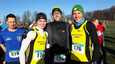 Janosch Schroeder, René Schmerbeck vor dem Start in Hamm