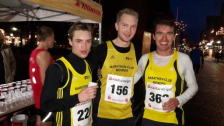 Felix Knode, Andreas Beulertz und Kai Buddenberg kurz nach dem Rennen in Ahlen
